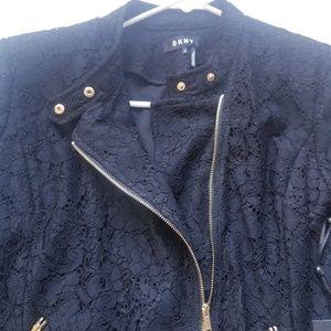 Dkny Jackets & Coats - DKNY FLORAL LACE MOTO JACKET